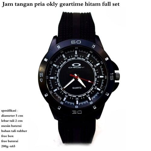 OAKLEY Jam Tangan Pria Geartime Full Set Hitam