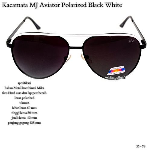 AVIATOR Kacamata MJ Polarized White