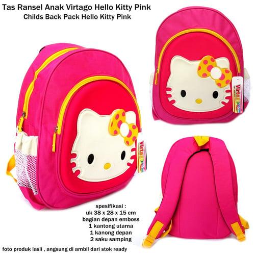 VIRTAGO Tas Ransel Karakter Anak Original Hello Kitty Pink