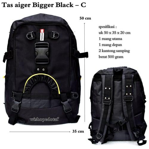 Tas Ransel Aiger Biger  - BLACK C