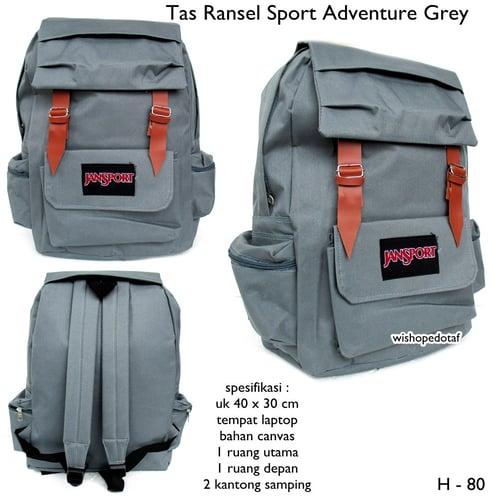 JANSPORT Tas Ransel Canvas Sport Adventure Grey