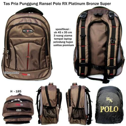 POLO RX Tas Ransel Premium Abu Bronze Super
