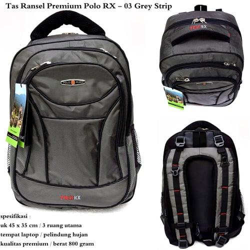 POLO RX Tas Ransel Premium 03 Grey Super