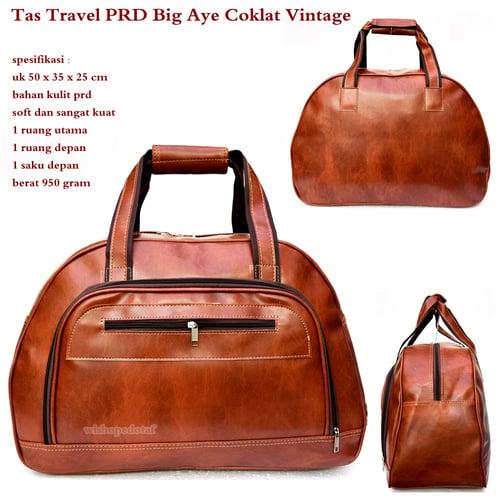 Tas Travel PRD Kulit Big Aye Coklat Vintage