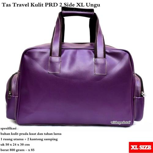 Tas Travel Besar Kulit PRD 2 Side XL  -UNGU