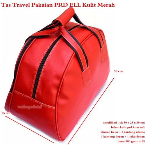 Tas Travel Besar Kulit PRD ELL Best Produk -  MERAH