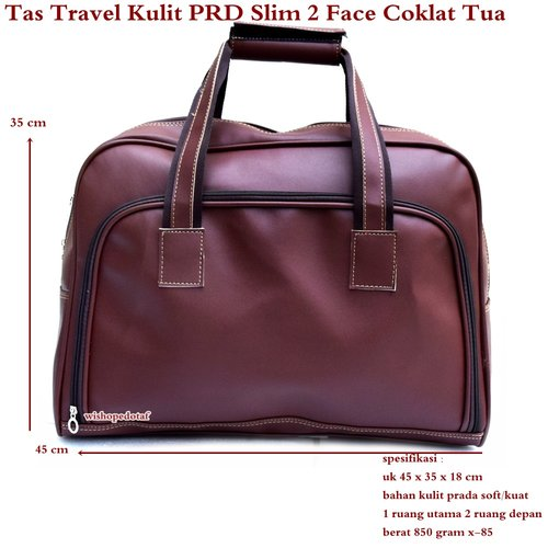 Tas Travel Kulit Suede Slim 2 Face  XX-Large COKLAT TUA