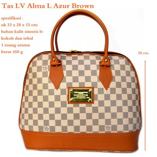 LUIS VUITTON Tas Alma L Azur Brown