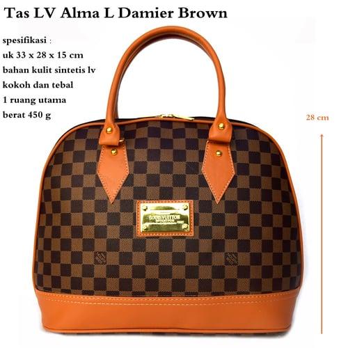 LUIS VUITTON Tas Alma L Damier Brown