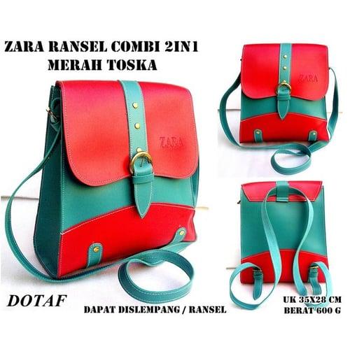 zr Tas Wanita Ransel Combi 2 in 1 Tosca Merah