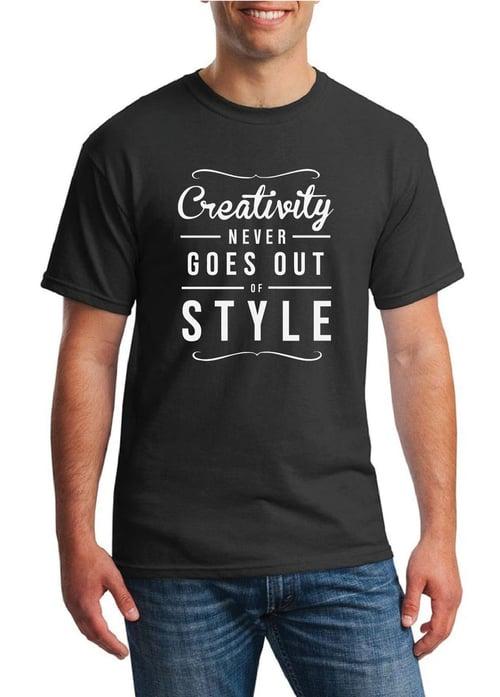 Live & Prosper T-Shirt Creativity - Hitam