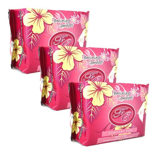 FEMININE COMFORT Sanitary Pad Night Use Merah Isi 3pcs