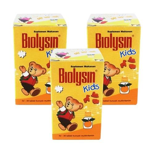 Biolysin Kids 30 Tablet - 3 Botol (Rasa Jeruk)