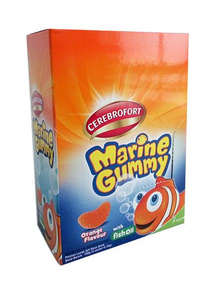 Cerebrofort Marine Gummy Jeruk 5 Sachet