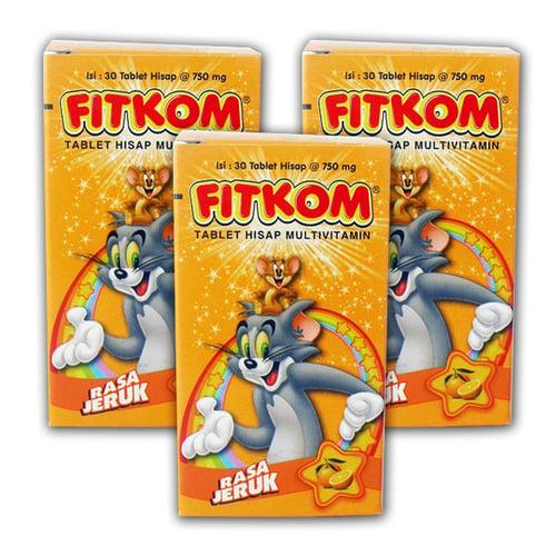 FITKOM Orange 30 TAB (3 Botol Rasa sama)