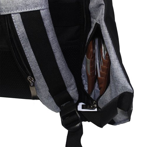 Tas Ransel Anti Theft Backpack Premium 710024 Abu Abu