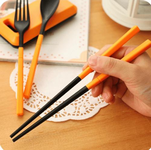 Cutlery Set Alat Makan Sendok Sumpit Garpu