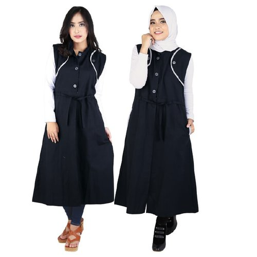 Cardigan Canvas RKO 026 Hitam
