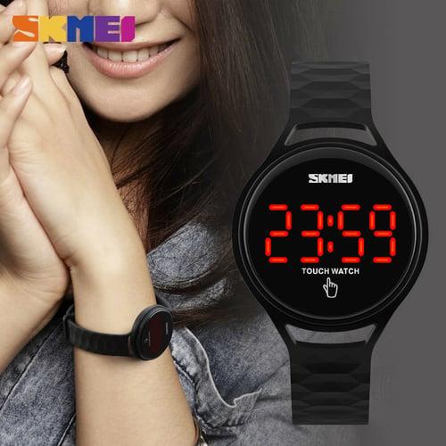 SKMEI Jam Tangan LED Touch Digital Water Resistant Original 056