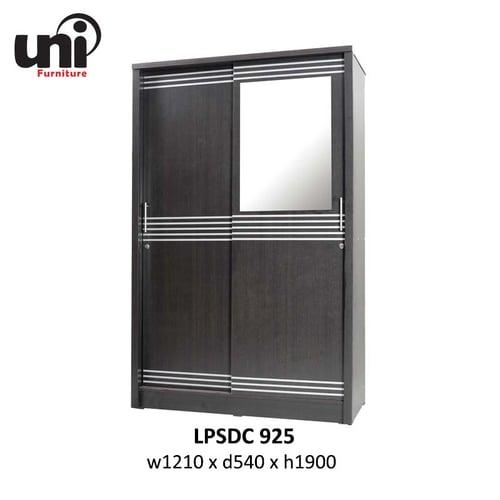 UNI Furniture Lemari Pakaian LPSDC 925 Walnut