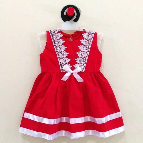 Dress Pesta Baju Anak Bayi Perempuan / Cewek AS002 ( 6 - 15 bln