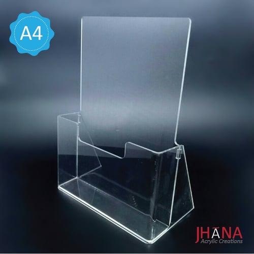 Acrylic Brochure Holder A4 1 Susun / Tempat Brosur Akrilik / Acrylic Stand  Brochure TB35A4
