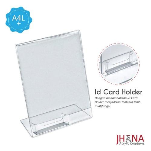 Acrylic Tentcard A4 L Plus TCA4LP plus id card