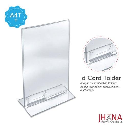 Acrylic Tentcard A4 T Plus / Akrilik Nomor Meja / Akrilik Menu /Tent Holder Acrylic TCA4TP plus