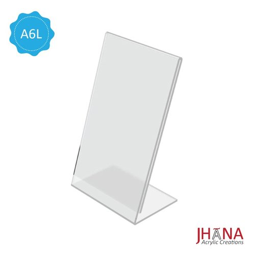 Acrylic Tentcard A6 L / Akrilik Nomor Meja / Akrilik Menu / Tent Holder Acrylic TCA6LP