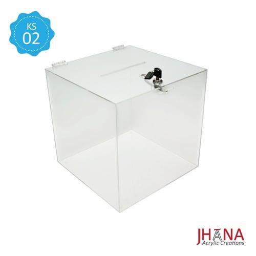 Kotak Saran Akrilik – KS02M / Box Acrylic / Sugestion Box / Kotak Amal / Kotak Undian Akrilik