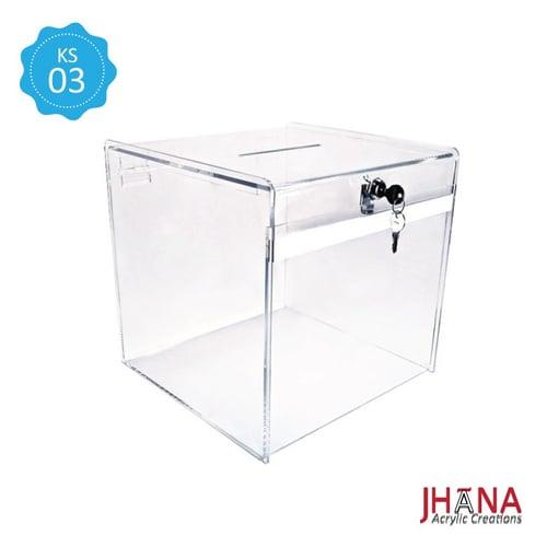 Kotak Saran Akrilik – KS03S / Box Acrylic / Sugestion Box / Kotak Amal / Kotak Undian Akrilik