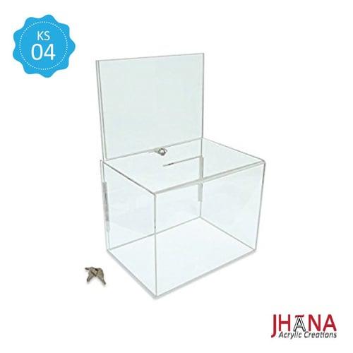 Kotak Saran Akrilik – KS04L / Box Acrylic / Sugestion Box / Kotak Amal / Kotak Undian Akrilik