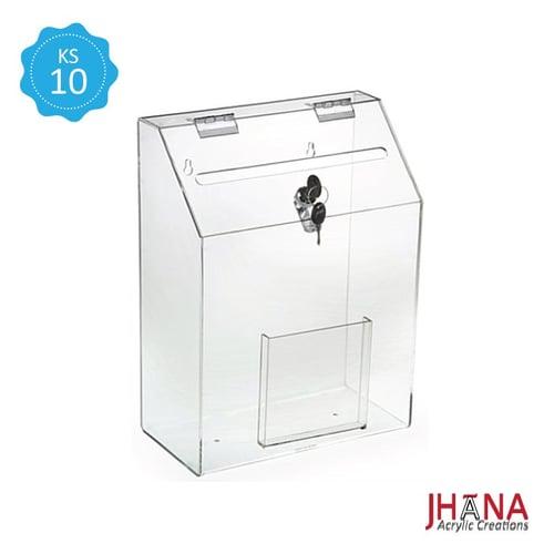 Kotak Saran Akrilik – KS10M / Box Acrylic / Sugestion Box / Kotak Amal / Kotak Undian Akrilik