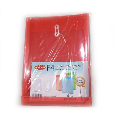 LOTTE MART B Clearbag Warna 6pc
