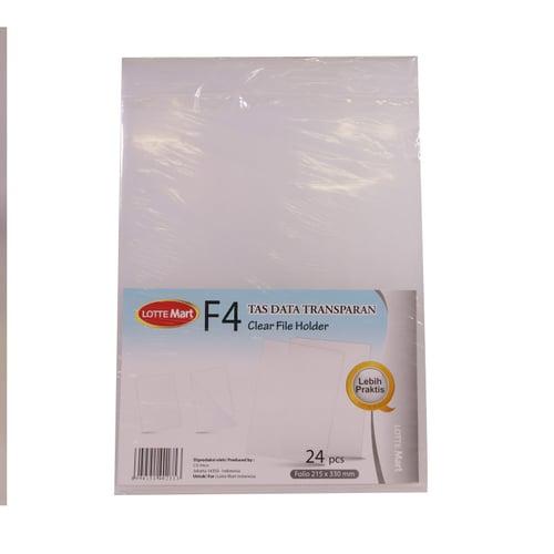 LOTTE MART Clear File Putih 24pc
