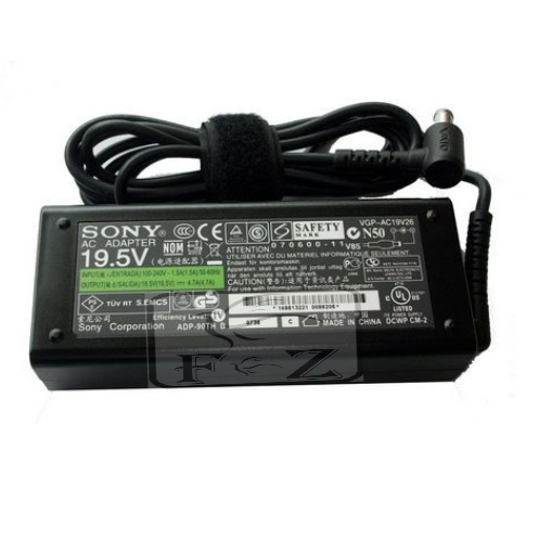 SONY Adaptor Laptop 19.5V 4.7A 92W (6.5x 4.4mm) Include Kabel Power.