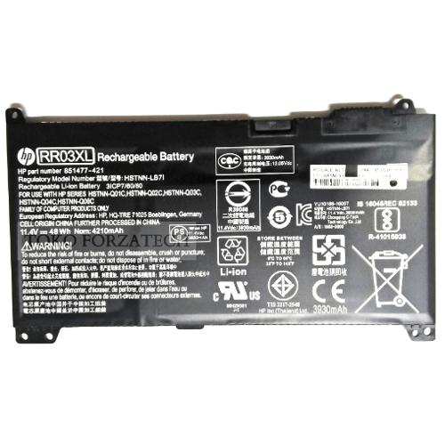 HP Battery Original ProBook 430 G4, 440 G4, 450 G4, 455 G4, 470 G4, RR03XL HSTNN-LB7I 851477-421 Series Laptop