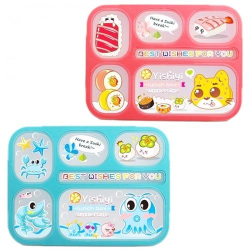 YOOYEE Kotak Makan 6 Sekat Bento Anti Bocor BPA Free 100ml