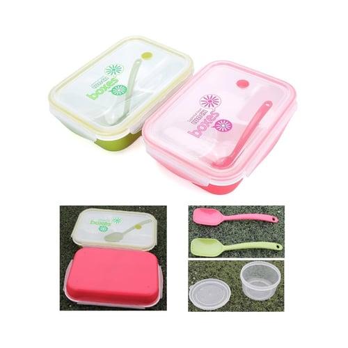 YOOYEE Kotak Makan plus Tempat Sup 4 Sekat Bento BPA Free