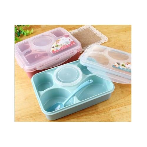 YOOYEE Kotak Makan plus Tempat Sup 5 Sekat Bento BPA Free