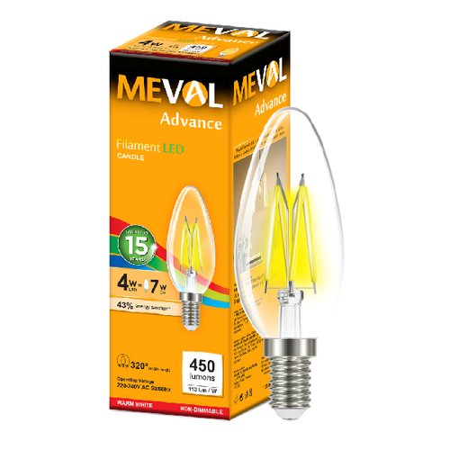 Meval LED Filament 4W - E14 - Kuning