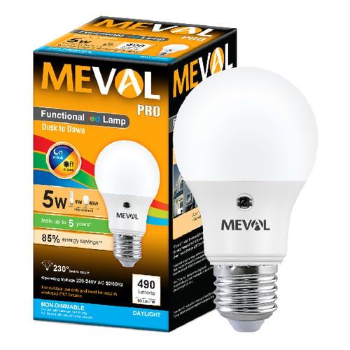 Meval LED Photo Sensor 5W - Putih