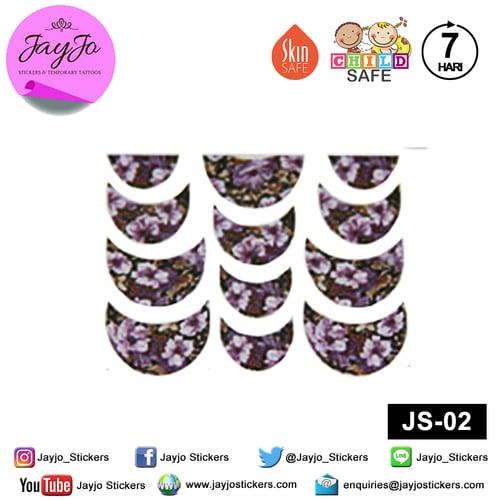 Jayjo Stickers JS-02 Nail Stickers Lavender  - Nail Sticker - Sticker Kuku- Nail Tattoo - Tato Kuku