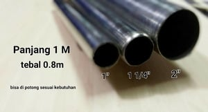 Pipa Bulat Stainless Steel 2 inch x 1M
