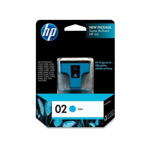 HP Tinta Ink Cartridge Original 02 C8771WA Cyan