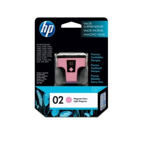 HP Tinta Ink Cartridge Original 02 C8775WA Light Magenta