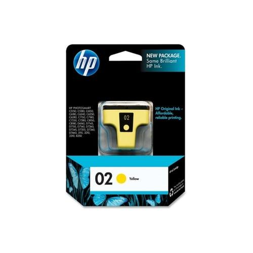 HP Tinta Ink Cartridge Original 02 C8773WA Yellow
