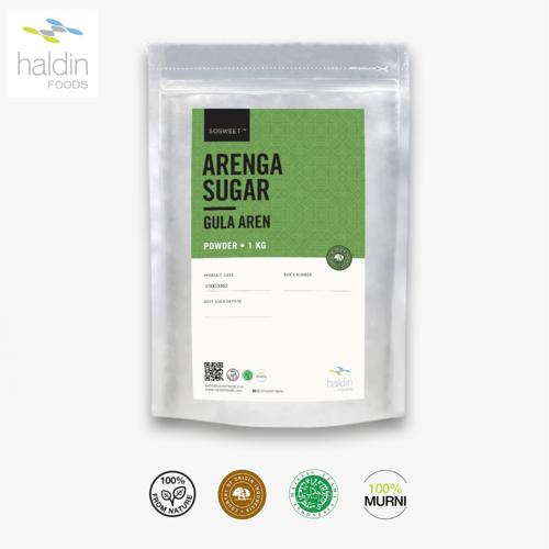 haldinfoods Gula Aren Alami (Arenga Sugar Powder) 1 Kg