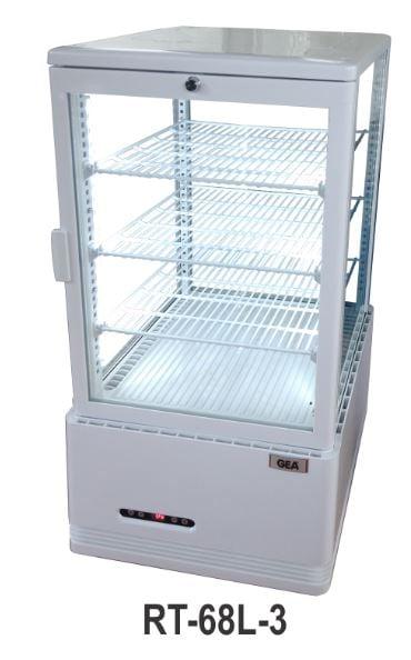 GEA RT-68L-3 Display cooler/display chiller/pendingin minuman dengan kaca 4 sisi