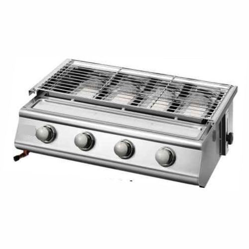 Getra BS214 stainless steel 4 burner BBQ/kompor pemanggang steak,sate dll